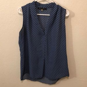 Medium blue blouse